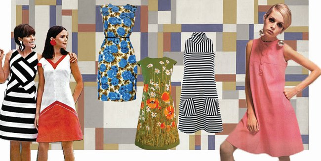 Платье в стиле 60 х
