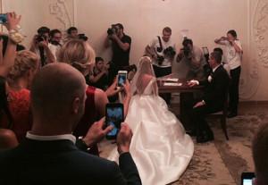 Свадебное платье Ксении Бородиной