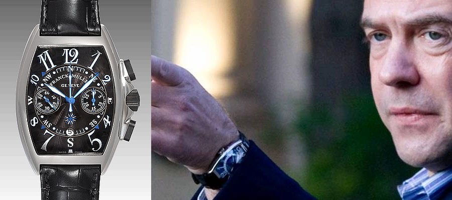 Часы Franck Muller Mariner 8080 Дмитрия Медведева