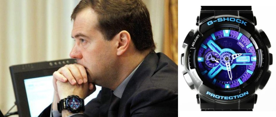 Часы Casio G-Shock GA-110HC-1A как у Медведева