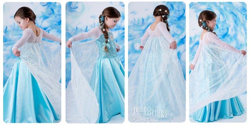 Детское платье как у Эльзы