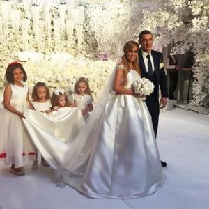 Свадебное платье Ксении Бородиной фото 2015