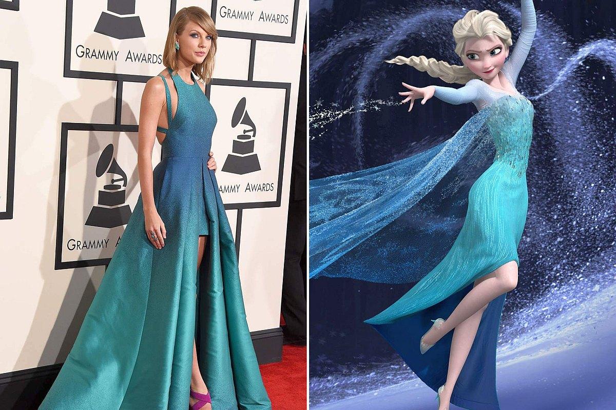 Тейлор Смит в платье в стиле Эльзы на вручении премии Гремми